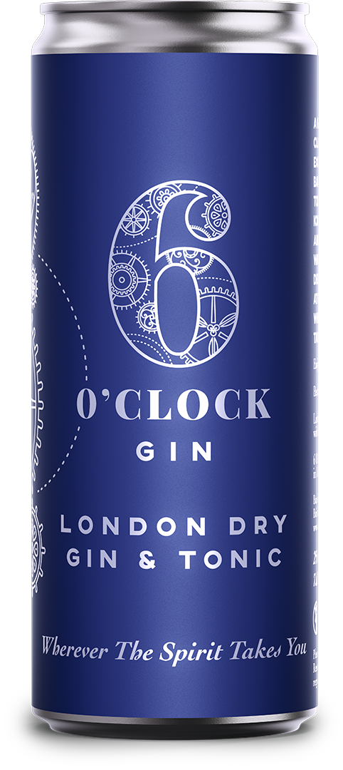 6 O'clock Gin London Dry Gin & Tonic RTD