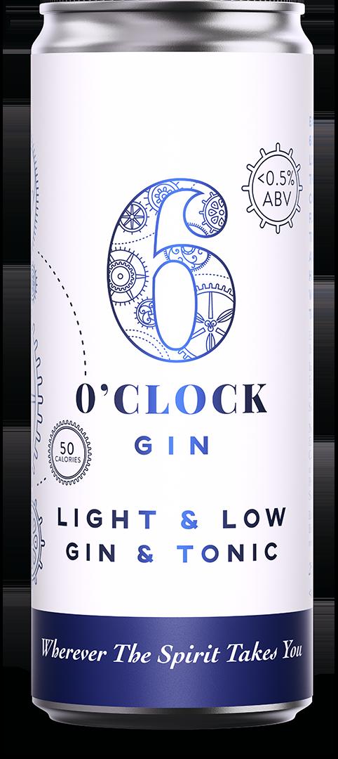 6 O'clock Gin Light & Low Gin & Tonic RTD