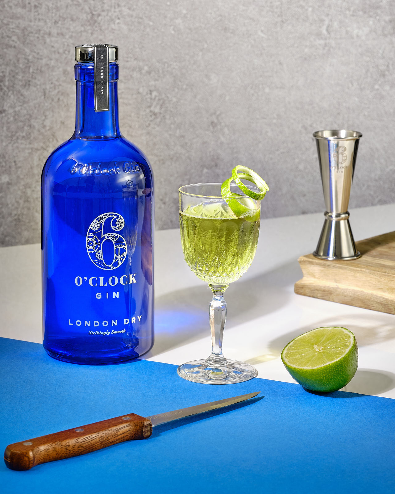 The Gimlet Cocktail - Made with 6 O'clock Gin London Dry.