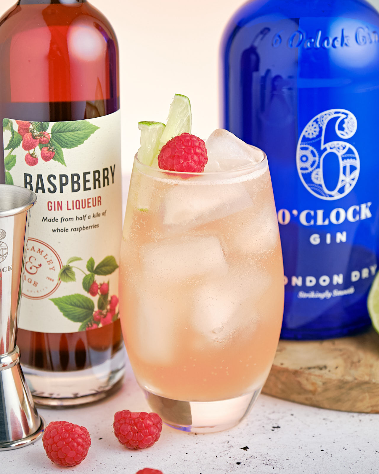 The Floradora gin cocktail - with Raspberry, Lime & Ginger Ales